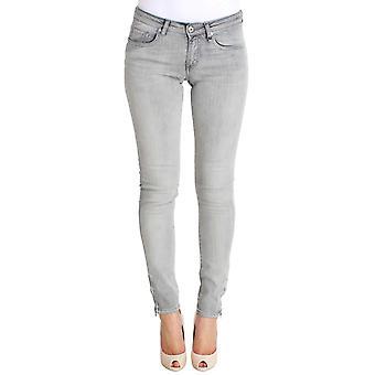 Gray Wash Cotton Denim Stretch Slim Fit Jeans SIG30182-1
