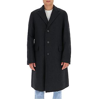 Dries Van Noten 202061197901 Men's Black Wool Coat