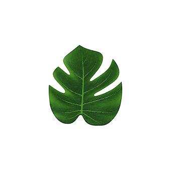 10PCS Artificiale Tropicale Palm Leaf Monstera Falso Foglia Verde Piccola