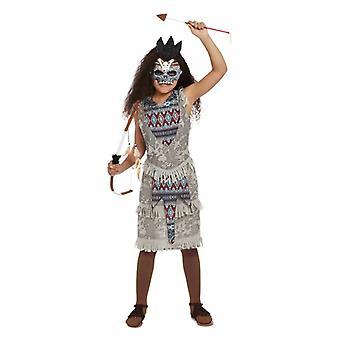jenter mørk ånd kriger fancy kjole kostyme