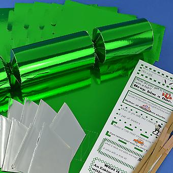 Single Green Foil Make & Fill Your Own DIY Christmas Cracker Craft Kit