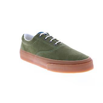 Sebago John Suede Mens Green Sneakers Lifestyle Schoenen