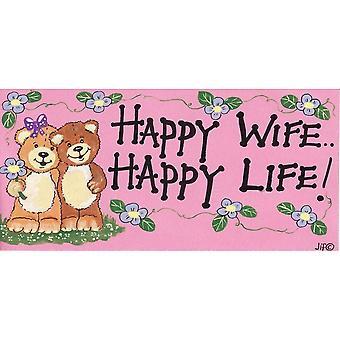 Etwas anderes glückliche Frau glücklich Leben Wandschild