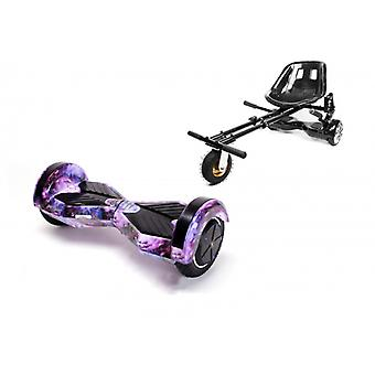 Package Smart Balance™ Hoverboard 8 Inch, Transformers Galaxy + Hoverseat With Suspensions, Motor 700 Wat, Bluetooth, Led