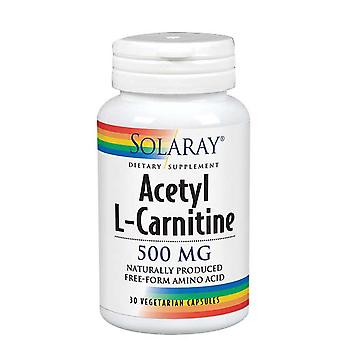 Solaray Acetyl L-Carnitina, 500 mgs, 30 Caps