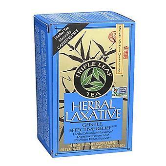 Kolminkertainen lehtitee yrtti laksatiivi teetä, 20 pussia