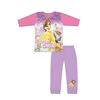 Kauneus ja peto tytöt pyjama setti