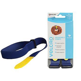 VELCRO Brand VELCRO Brand Adjustable Straps(2) 25mm x 92cm Blue VEL60327