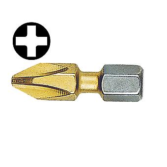 Witte Phillips No.3pt Titanium Coated Screwdriver Bits 25mm (Card of 2) WIT26793