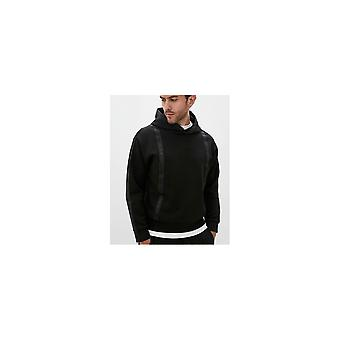 Emporio Armani Overhead Stripe Logo Black Hoodie