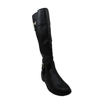 Karen Scott Womens Deliee2 Leather Almond Dee Knee Knee High Fashion Boots
