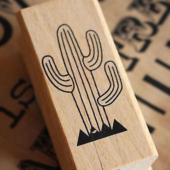 Cactus Rubber Stamp - Scrapbooking Card Making