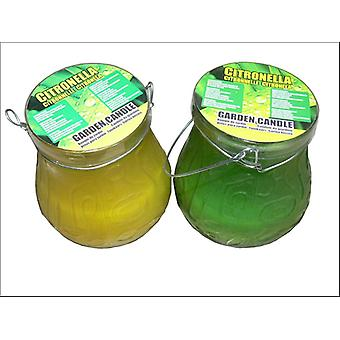 Home Hardware Outdoor Frosted Citronella Jar Candle
