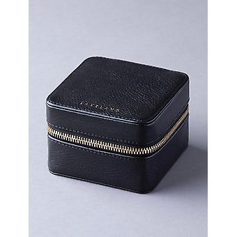 Scatola di gioielli in pelle Wray in nero