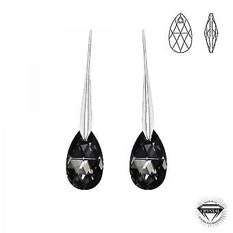 Sølv øredobber e SoCharm orn es av Swarovski krystaller