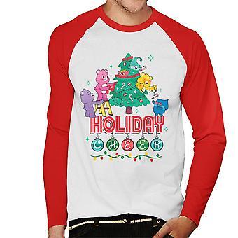 Care Bears Unlock The Magic Christmas Holiday Cheer Men's Baseball camiseta de manga larga
