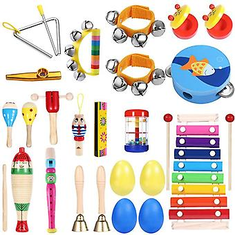 Kids Toddlers Musical, Band Rhythm Kit Instruments For Preschool Educational