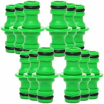 Gartenschlauch Fittings Schlauch 2 SchlauchStecker, grün, Packung mit 12