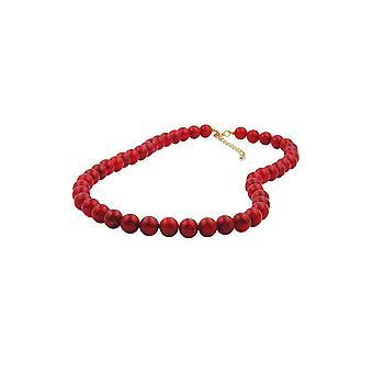 Collar Abalorios Frambuesa-rojo 8mm 50cm