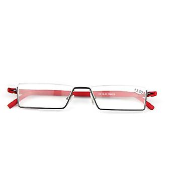 Mukava kevyt puolikehys lukulasit Tr90 nasta taitettava presbyooppiset lasit &