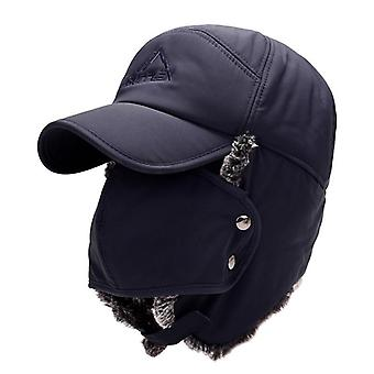 Bomber Hats Warm Plush Ear Flaps Breathable Mask Neck Thicken Winter Cycle Cap