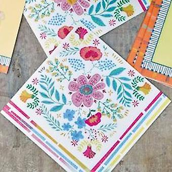 Boho Floral Paper Party Napkins Pack of 20