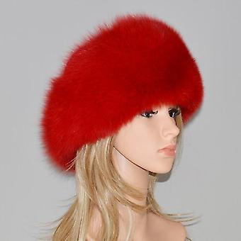 Winter 100% Natural Real Fox Fur And Real Fox Fur Bomber Hats, Real Genuine Fox
