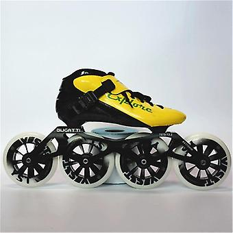 Eur Size 30-44 Speed Inline Skates Carbon Fiber Competition Skate 3*125mm