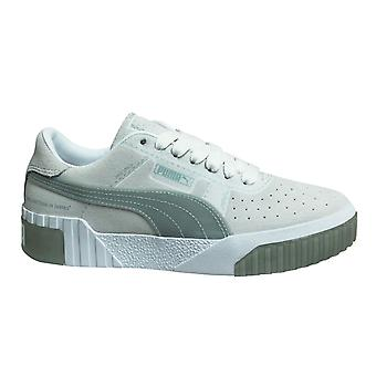 Puma Cali Patternmaster Leather Low Lace Up Womens Trainers 369965 01