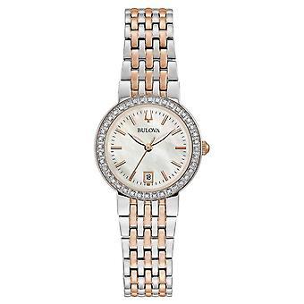 ブローバ 98R280 女性&アポ;マザー オブ パール ダイヤモンド ツー トーン腕腕時計