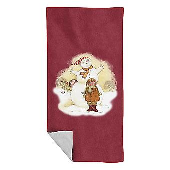 Holly Hobbie Christmas Snowman Beach Towel