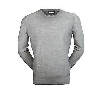 Replay Jeans Mens Knitwear Jumper Iron Grey
