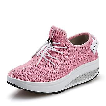 Frauen's Sneakers- Plattform Toning Keil Sportschuhe