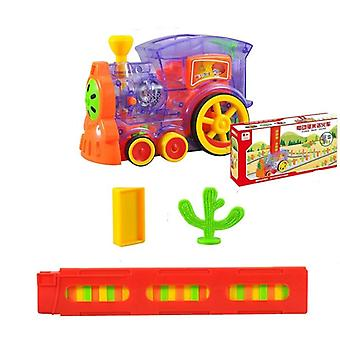 Motorized Domino Train Car Kit Set Toy