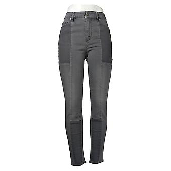Martha Stewart Mujeres's Jeans Francés Seamed Panel Gris A351150