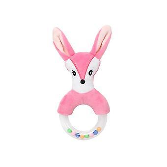 Cute Baby Plush Cartoon Bed Rattle Rabbit