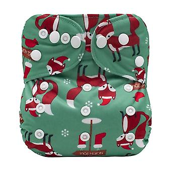 New Baby Digital Printing Washable Reusable Suede Pocket Diaper