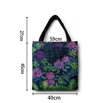 Canvas Bag Digital Printing Portable One Shoulder Shopping Bag Self-study Bag