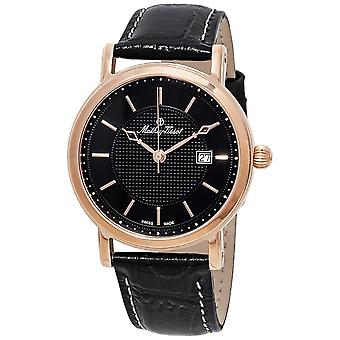 Mathey-Tissot City Black Dial Black Leather Men's Watch H611251PN