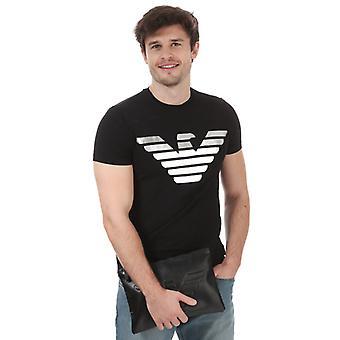 Herren Armani Eagle Logo T-Shirt in Schwarz