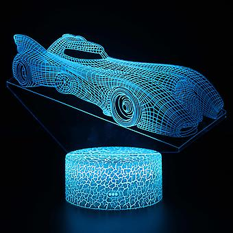 Lampe illusion 3D 7 couleurs Optique Changement Touch Light USB et Télécommande Art Déco Make A Romantic Atmosphere Christmas Valentine's Birthday Gift -Car#121
