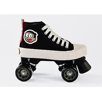 Unisex Canvas Double Line Skates For Adults/kids