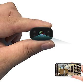 Spy Cameras 1080P HD Mini Hidden Camera WiFi Wireless Surveillance Camera with Infrared Night Vision-black