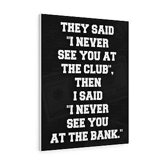 Nähdään pankissa.