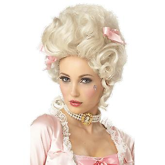 Womens Marie Antoinette White Wig French Baroque Fancy Dress Costume Accessory