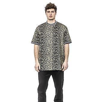 Les Hommes Olive- Black T-shirt - LE1395188