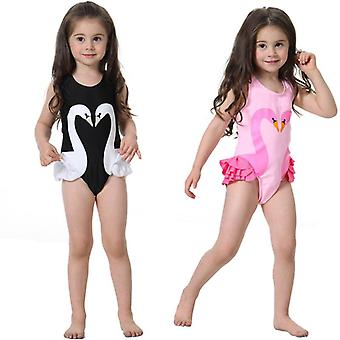 Swimsuit summer swan flamingo child girl baby one-piece spring bathing suit