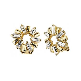 Traveller - Clip Earring - Swarovski Crystals - 22ct Gold Plated - 157442 - 945
