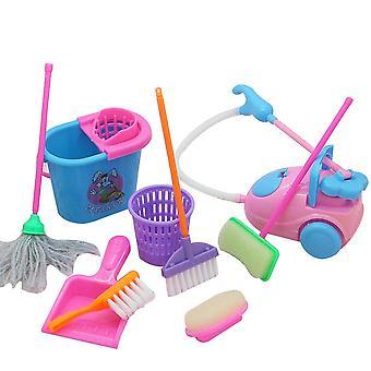 Mini Pretend Play Mop Broom, Cute Kids Cleaning Furniture Tools Kit, House