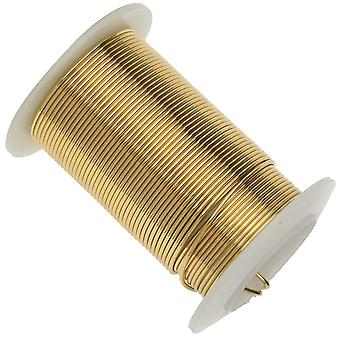 عناصر سلكية، أسلاك نحاسية مقاومة للألوان الذهبية، قياس 18 ياردة (9.1 متر)